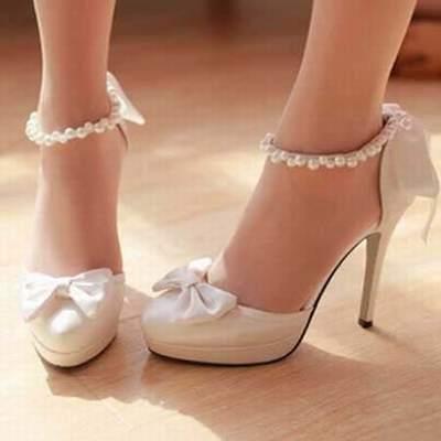8f1a9fb0c4c chaussure de mariee ivoire petit talon